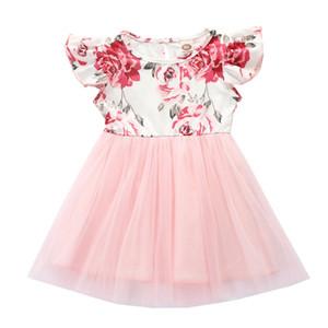 Baby Clothing Kids Baby Girl Princess Dress Sleeveless Party Tutu Mesh Patchwork Easter Dress