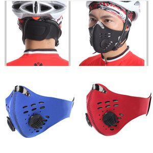 Máscara de polvo PM2.5 neopreno smog niebla Motocicleta del montar a caballo de la cara máscaras de filtro de aire de la mayor anti humo de olor máscara de polvo XD23200