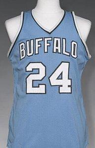Personnalisé hommes jeunes femmes Vintage Vintage Hommes Buffalo # 24 Wil Jones 1977-78 Basket-Ball Jersey Taille S-4XL ou personnalisé n'importe quel nom ou nombre jersey
