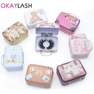 OKAYLASH 1 пара малых накладных ресниц упаковочная коробка изготовленный на заказ ваш собственный логотип пустой макияж ресницы хранения для продажи