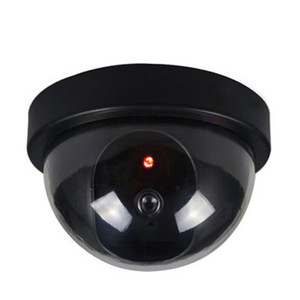New Arrival Outdoor Indoor ABS Surveillance Camera Dummy Fake CCTV Security Dome Camera with Flashing Red LED Light