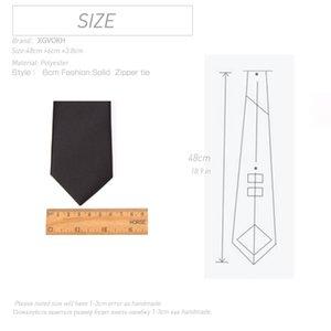 Men Necktie Zipper Lazy Tie Fashion Solid 6cm Ties Business for Man Gravatas Handkerchief Bowtie Mens Wedding Shirt Accessories