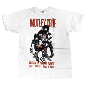 Motley Crue T-Shirt - World Tour 83 100% Official Hair Metal Klassische Neuheit kühle Spitzen Männer kurzärmelige T-Shirt