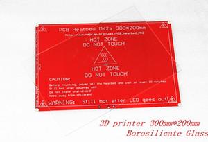 Freeshipping 3D боросиликатного стекла принтер для MK2B PCB Heatbed RepRap Prusa 200мм * 300мм * 3мм