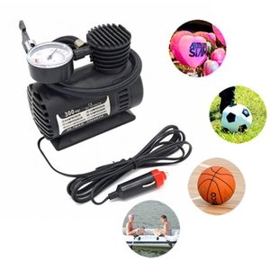 DC 12V 300PSI Car Tire Inflator Auto Air Compressor Tire Pump with Pressure Gauge for Auto Bicycles Motorcycles