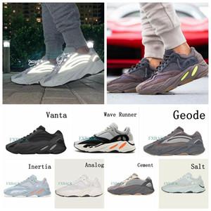 nuevo top 3M Reflexivo Vanta Analog Geode Inertia Static Kanye West 700 V2 Wave Runner Zapatos para correr Hombres Mujeres Zapatillas deportivas malva 36-46