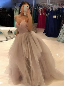 Puffy Ball Evening Dresses Long for Women's Prom Gown Spaghetti Straps Tulle Evening Prom Dress Custom Made