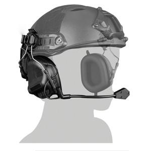 Casco táctico Head Wearing Versión Auricular Airsoft Tiro Caza Auriculares A Prueba de agua Combate Wargame Auriculares Paintball Auriculares