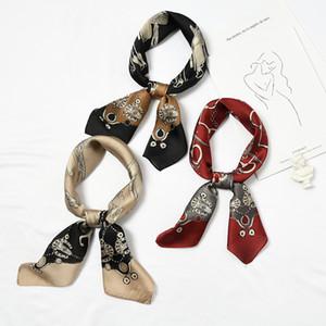 [70 cm] Pequeñas bufandas Bufanda Sra. Spring y otoño Coreano Wild Artes decorativos multifuncionales múltiples chic bufandas bufandas