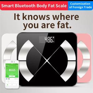bluetooth báscula de baño peso corporal básculas de suelo retroiluminado inteligente masa escala de visualización peso corporal grasa corporal muscular agua