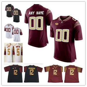 Custom Alex Hornibrook Florida Государственные семинарии 2019 FSU Футбол Любое имя № 3 Cam Akers Derwin James Blackman NCAA College Jersey
