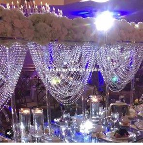 X6) 90cm Vase Jardinière vase fleur pièce maîtresse de décoration de mariage trompette populaire pour les mariages événement décoration senyu1448