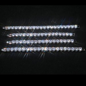 Big Sale Espumante Cubic Zircon CZ tênis pulseiras de prata completamente cristal austríaco pavimentada Bangles Jóias pulseira por Mulheres