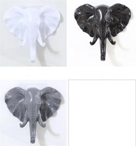 New Home Elephant Head animal da parede porta roupa gancho de exibição de armazenamento Racks autoadesivo Hanger Saco teclas de aderência Titular Decoração criativa