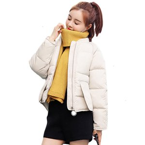 Baixo Parque da moda Fat Baixo Cato Revestido Jas Pão Curto Jas Mulheres Mulheres Winter Clothing 2019 New