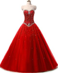 Newest Pink Ball Gown Quinceanera Dresses 2020 Crystal Beads Lace Up Prom Pageant Debutante Formal Evening Prom Party Gown AL74