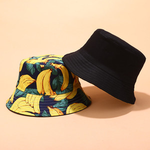 Nova impressão Fisherman Hat Tide Homens e Mulheres Rua selvagem Visor Verão Bacia Lazer Outdoor Cap Homens Bucket Hat Gorros
