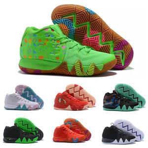 2020 Kyrie IV Lucky Green chaussures Charms ventes à chaud de qualité supérieure Irving 4 céréales chaussures de basket-ball Livraison gratuite US7-US12
