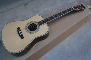 Envío libre redondeado 41 pulgadas guitarra acústica de madera de color sólido de madera del panel superior de la guitarra