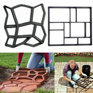 Giardino marciapiede Mould Garden Walk Pavimentazione Concrete Mould DIY Pavimentazione manualmente Cemento Brick Stone Road Concrete Molds Path Maker Tools
