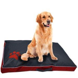 Lit pour chien Coussin pour chien Grand Tissu Oxford Puppy Respirant Niche étanche Pad Pet Nest Sofa Blanket Mat pour les fournitures pour animaux