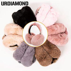 Mode femme hiver Earmuffs Mignon chaud Oreille d'hiver pour femmes filles en peluche doux Bandeau Earmuffs