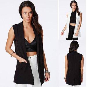 2015 Automne femmes marée haut manteau d'été manteau colete veste Feminino veste sans manches