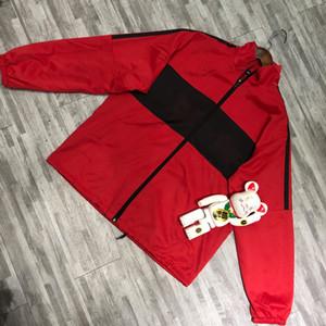 19SS LOGO Printing Coat Men's Loose Jacket Stitching Windbreaker Man Women Couple Jackets Fashion OS Style TOP VERSION HFLSJK450