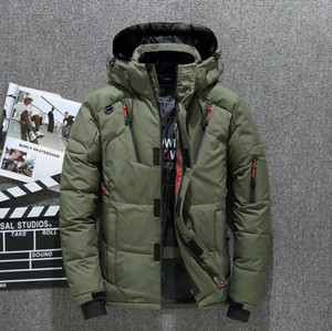 High Quality 80% White Duck Thick Men's Down Jacket Snow Parkas Male Warm Hooded Windproof Winter Down Jacket Outerwear