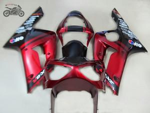 Бесплатные пользовательские инъекции китайский обтекатель bodykit для Kawasaki Ninja ZX636 ZX6R 2003 2004 ZX-6R 03 04 красный обтекатели комплекты