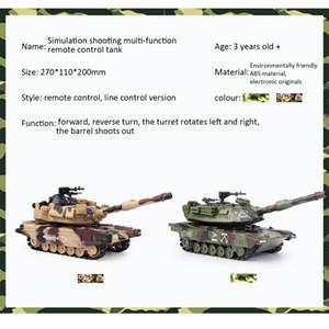 1:32 RC Tank Battle Crawler Veicolo Tattico principale battaglia militare Telecomando serbatoio con proiettili tiro di modello giocattoli elettronici