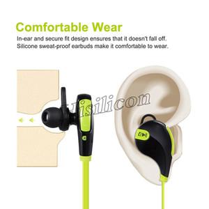 300pcs QY7 Sport bluetooth senza fili 4.1 cuffie con archetto da collo portatile Noise Cancelling Stereo Headset Sport In Ear auricolare + imballaggio al dettaglio