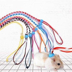 Sıçan Fare Hamster Pet Cage Tasması için 1.4m Ayarlanabilir Pet Hamster Tasmalar Harness Halat Gerbil Pamuk Halat Harness Kurşun Yaka
