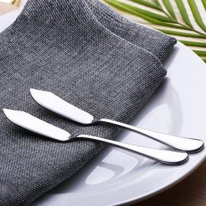 acero inoxidable cuchillo de mantequilla utensilios cubiertos de queso Postre Jam esparcidor desayuno cocina principal de la herramienta del partido del favor FFA3470