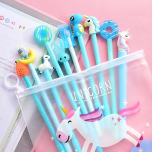 Симпатичный мультфильм Форма ручки Kawaii Unicorn Cactus Гелевые ручки для девочек Подарки школа Канцелярские товары Канцелярские товары