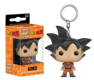 Xmas gift Funko Pop Pocket Dragon Ball Keychain Goku Action Figure Toys keyring