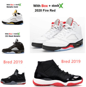 2020 5s Fire Red Concord 45 Space jam Court Purple 5 Black Metallic Game Royal 11S 4s bred Sneakers Island Green