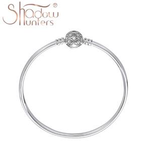 Toptan yapma SHADOWHUNTERS Gerçek% 100 925 Gümüş Mesh toka Bileklik Bilezik İçin Kadınlar Yüksek Kaliteli Güzel Takı