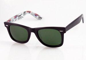 Стиль Новый Высококачественный дизайнер Мода Мужские / Женские 2140 Черные Роскошные Лондонские Солнцезащитные очки Внутри Карты Очки Green Lens Бренд 50 мм Jovbg