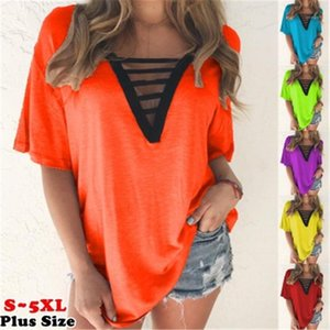 Sleeve Solid Color Basic-T-Shirt Büro-Dame Herbst Multicolor Plus Size Top Strickoberteile Designer-Frauen-eleganter V-Ausschnitt Short
