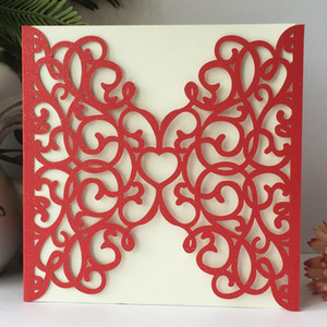 luxury hollow chic butterfly Royal lace laser cut Pearl paper envelop wedding invitaion birthday dinner party Multi Color Free Shipping