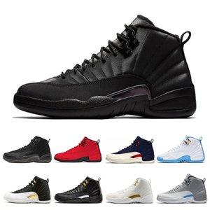 12 12s Chaussures de basket-ball pour hommes hiverisés Gym Red College Navy CNY Bulls University Bleu hommes Sport Sneakers Taille 7-13