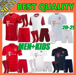 Hommes + enfants Kit 2020 Bayern Munich maillot de football COUTINHO 20 21 LEWANDOWSKI MULLER chemises de football DAVIES 120e anniversaire