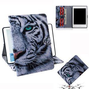 Тигровый узор горизонтальный флип кожаный чехол для Amazon Kindle Paperwhite 4 / 3 / 2 / 1, с держателем слота для карт бумажник