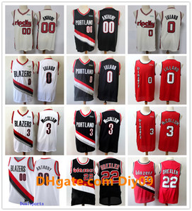 MännerPortlandWegBlazer 00 Carmelo Anthony 0 Damian Lillard C. J. McCollum 3 Jahrgang 22 Clyde Drexler Basketball Jerseys 2020
