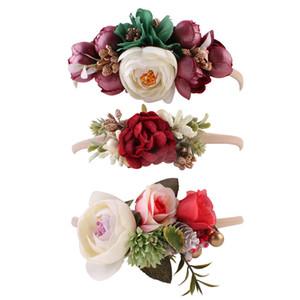 3 цвета девочка гибкость цветок оголовье Европейский и американский ребенок hairband фотосъемка оголовье волос группа дети Камелия венок