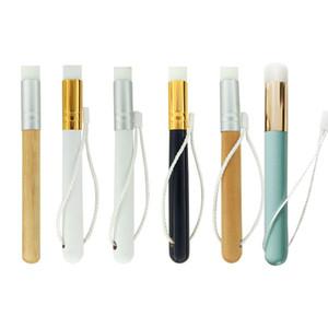 Угри мыть кисти плоские угри нос чище деревянной ручкой щетка для очистки нос черная голова очистки кисть инструмент косметические средства RRA1353