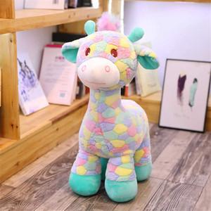 Regalos 30cm precioso bebé jirafa del arco iris Juguetes juguetes de peluche muñecas para los niños de Kawaii de los ciervos de Sika regalo para el bebé de Navidad