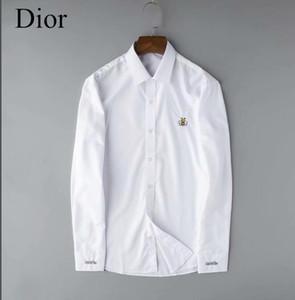 Оптовая 2020 Новый бренд весна осень Повседневный длинным рукавом Мужские рубашки хлопка высокого качества Формальные Бизнес плед мужские рубашки платья Plus G324