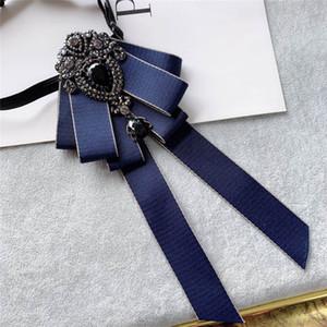 Formal Collar Homens Mulheres da festa de casamento Negócios Neck Wear Bow Tie Cravat Acessório elástico noivo Rhinestone cristal Bowtie